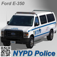 Ford E-350 NYPD Police car