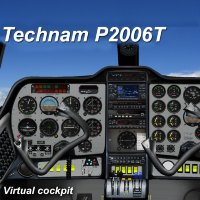 Tecnam P2006T Virtual Analog Cocpit
