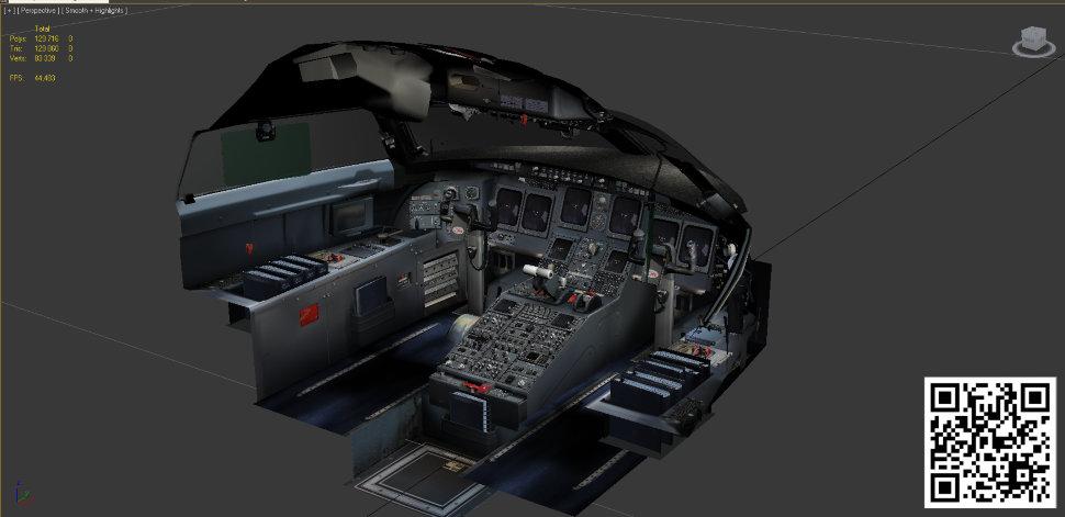 Bombardier CRJ 200 Virtual cockpit