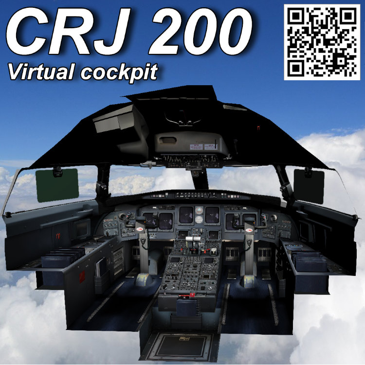 Bombardier CRJ 200 Virtual cockpit