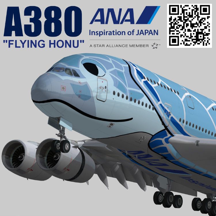 Airbus A380 ANA FLYING HONU design