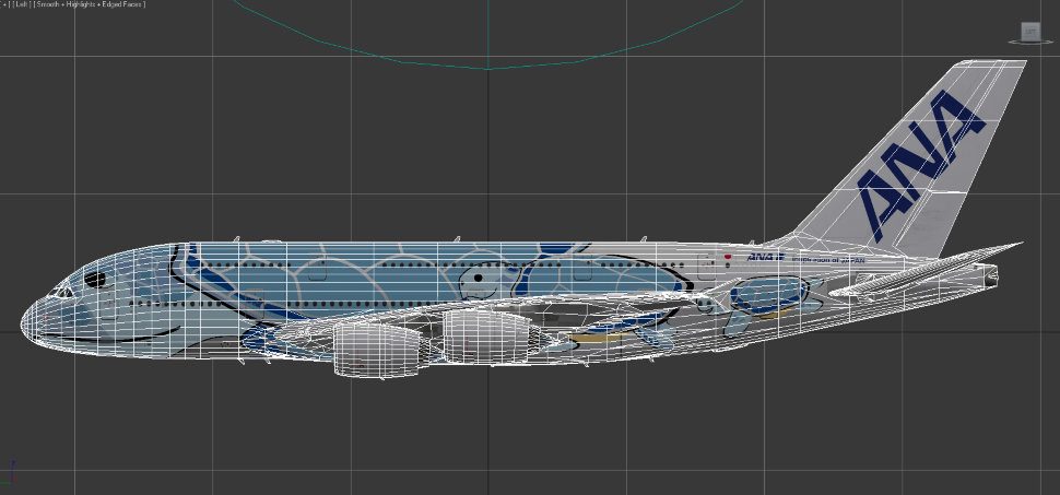 Airbus A380 Ana Flying Honu Design