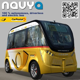 Navya Arma CarPostal driverless electric bus